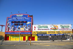 The Nathan s original restaurant at Coney Island Stock Images