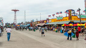 The Nathan's original restaurant at Coney Island, New York. Stock Photography