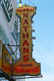 The Nathan's original restaurant at Coney Island, New York Royalty Free Stock Photography
