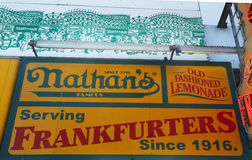 The Nathan's original restaurant at Coney Island, New York Royalty Free Stock Photo