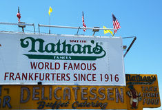 The Nathan's original restaurant at Coney Island, New York Stock Images
