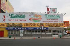 Nathan`s original restaurant at Coney Island, New York Stock Photo