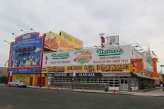 Nathan`s original restaurant at Coney Island, New York Stock Photography