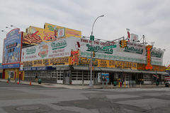 Nathan`s original restaurant at Coney Island, New York Royalty Free Stock Photo