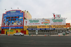 Nathan`s original restaurant at Coney Island, New York Stock Image