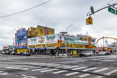 The Nathan`s original restaurant at Coney Island, stock photography