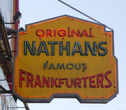 The Nathan s original restaurant sign Stock Image