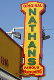 The Nathan's original restaurant sign Royalty Free Stock Image