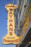 The Nathan's original restaurant sign Stock Photos