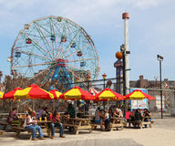 The Nathan's reopened after damage by Hurricane Sandy at Coney Island Boardwalk Stock Images
