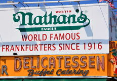 Nathan's Sign Royalty Free Stock Image