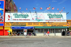 Nathan's World Famous Hot Dogs stock images