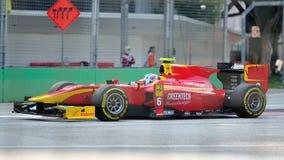 Nathanael Berthon участвуя в гонке в Сингапур GP2 2012 Стоковые Изображения RF