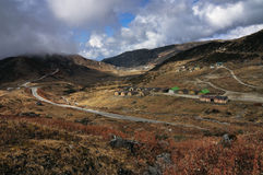 Nathang Valley , Dzuluk, Sikkim. Nathang Valley is beside old silk trade route, for silk trading between China and Middle East, which passed through Himalayas of Royalty Free Stock Photos