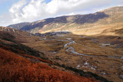 Nathang valley , Sikkim. Nathang Valley, top view,  Zuluk, Sikkim Royalty Free Stock Photography