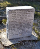 Nathaniel Lyon Marker at Wilson's Creek Stock Images
