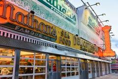 Nathans berömda Hotdogs, original - Brooklyn, NY Arkivbilder