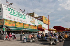 Nathans hotdogs Royalty Free Stock Photo