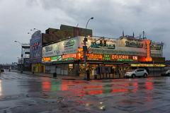 Nathans varmkorvar, Coney Island Arkivfoton