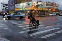 Nathans varmkorvar, Coney Island Royaltyfria Foton