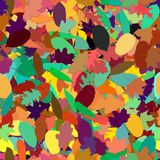 Seamless pattern from colorful leaves in autumn stock photos