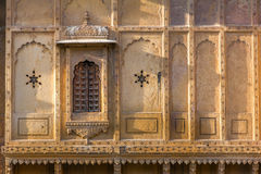 Nathmalji ki Haveli at Jaisalmer, India. Architectural detail stock image