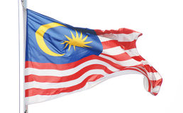 The natiaonal flag   malaysia Royalty Free Stock Image