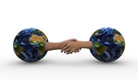 Naties die elkaar helpen stock illustratie