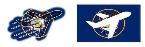 Natievlag - geïsoleerd Vliegtuig - Utah Royalty-vrije Stock Foto's