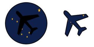 Natievlag - geïsoleerd Vliegtuig - Alaska Stock Foto