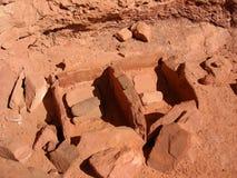 Natif américain Anasazi Manos et Metates Images stock