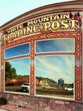 Natif américain Art Store décoratif, comptoir commercial blanc de montagne, Utah Images libres de droits