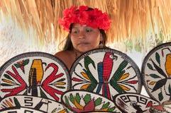 Natif américain de tribu d'Embera Tusipono, Panama Images libres de droits