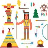 Natifs américains et thème occidental sauvage illustration de vecteur