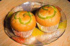 Natillas del pan en placa Foto de archivo libre de regalías