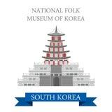 Natinal民间博物馆韩国传染媒介平的吸引力旅行 库存例证