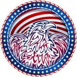 Американский цвет эмблемы США символа Natioal орла четвертого -го июля Стоковые Фотографии RF