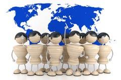 Nation. World mapÑŽ. abstract 3d model stock illustration