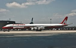 Nation Air Canada Douglas DC-8-61 i 1988 Arkivbild