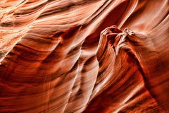 Nation Arizona de Navajo de canyon de serpent à sonnettes Photos libres de droits