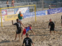 6 Nation Beach Soccer Tournament Stock Images