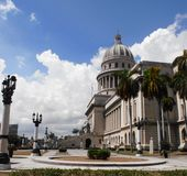 Nation capitol building in Havana. National capitol building or El capitolio in Havana Cuba Royalty Free Stock Images