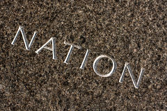 NATION Carved in Stone Royalty Free Stock Photography