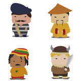 Nation characters Royalty Free Stock Photography