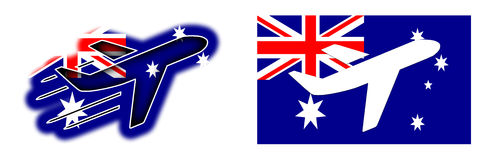 Nation flag - Airplane isolated - Australia Royalty Free Stock Photo