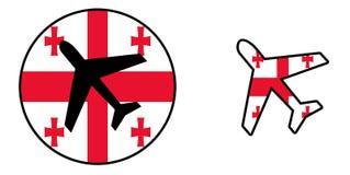 Nation flag - Airplane isolated - Georgia Stock Image