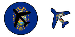 Nation flag - Airplane isolated - New Hampshire Royalty Free Stock Image