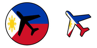 Nation flag - Airplane isolated - Philippines Royalty Free Stock Images