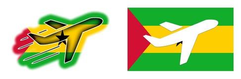 Nation flag - Airplane isolated - Sao Tome and Principe Stock Photography