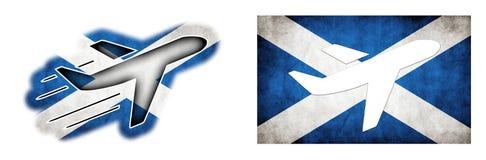 Nation flag - Airplane isolated - Scotland royalty free illustration